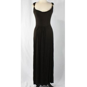 a.n.a. Dark Brown Stretch Knit Maxi Dress MEDIUM